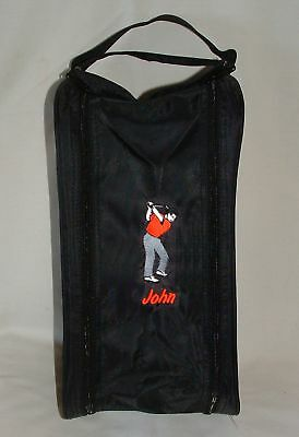 Personalised Embroidered Men's Golf Shoe Bag - Male Golfer Logo - Any Name