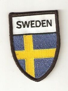 Iron-on Embroidered Patch Sweden Crest