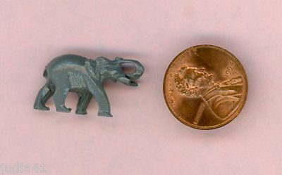 Miniature Dollhouse Gray Elephant Figurine