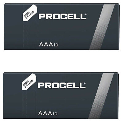 20 AAA Duracell Industrial Procell Alkaline Batteries MN2400 LR03
