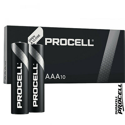 10 AAA Duracell Industrial Procell Alkaline Batteries MN2400 LR03