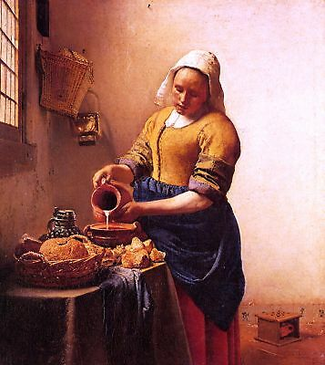 Vermeer The Milkmaid - Stretched Giclee Canvas Art
