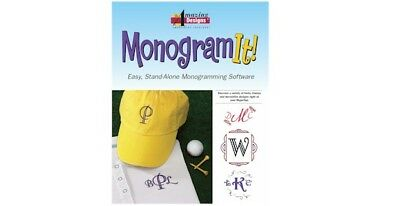 Amazing Designs Monogram It! Embroidery Software + GIFT