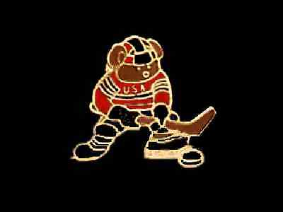 Hockey Teddy Bear Lapel Pin - A FAVORITE FOR YOUNGSTERS