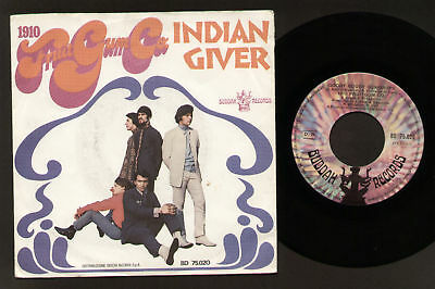 "7"" 1910 Fruit Gum Co. Indian Giver / Goody Italy 1969"