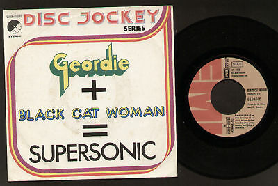 "7"" Geordie Black Cat Woman Italy Vinyl Near Mint!! 1974"