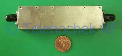 RF IF microwave bandpass filter 127 MHz 30 MHz BW, power 15W, data