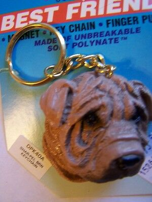 Shar Pei Face Key Ring Non-Breakable Free Items a4u