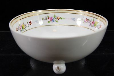 "Handpainted Nippon 3 Footed 4.5"" Bowl Dish Flowers"