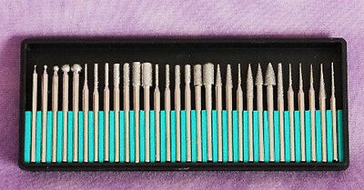 Diamond Coated Steel Burs For Rotary Tools In Case
