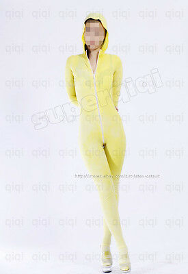 Latex/Rubber 0.45mm Catsuit Suit Hoody Costume Classic