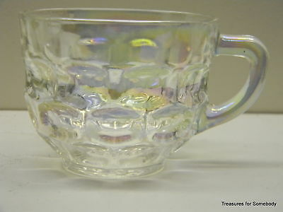 Iridescent JUBILEE Glass Cup for Punch Bowl Federal