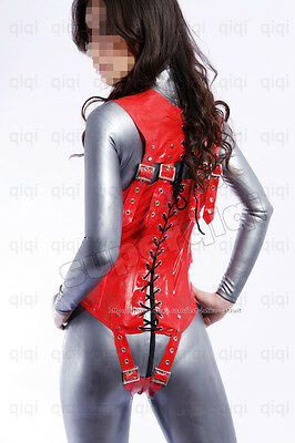 Latex/Rubber 0.8mm Corset Lace up Catsuit Unique Suit