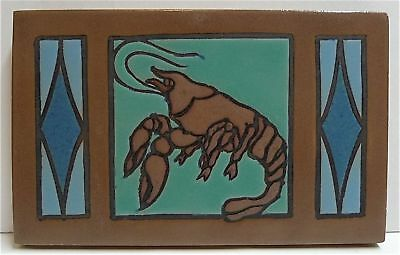 Antique Mosaic Tile with Lobster