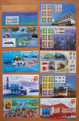 Hong Kong -10 Different Miniature Stamp Sheets-Pack 1