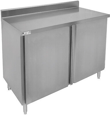"ACE All S/S 4"" Rear Upturn Cabinet w/ Hinge Doors  24""x60""x35"" CTD-P2460H"