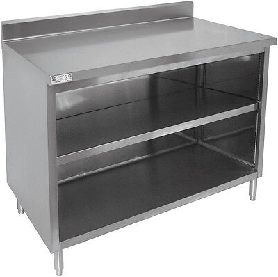 "ACE CTN-P3048 30""x48""x35"" 18 Gauge Stainless Steel Rear Upturn Cabinet No Doors"