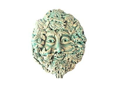 """New And Sealed - Small """"green Man"""" Garden Ornament Wall Plaque- Unusual Piece"""