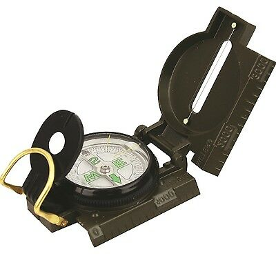 MILITARY COMPASS solid metal olive vintage hiking Army Survival Map reading