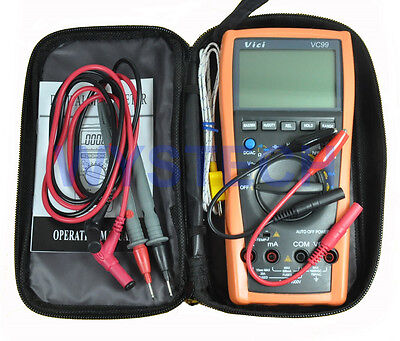 US POST Vici VC99 5999 Auto range digital multimeter DMM with bag lead