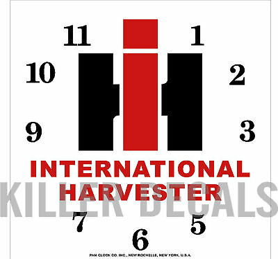SQUARE INTERNATIONAL TRACTOR CLOCK DECAL for PAM MASONITE FACE IH202