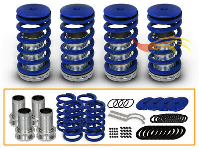 JDM BLUE Lowering Adjustable Coilover Springs For 90-07 Accord/92-96 Prelude