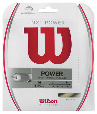 Wilson NXT Power 1.30mm 16 Tennis Strings Set