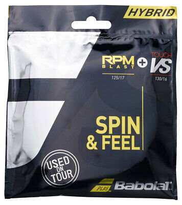 Babolat RPM Blast and VS Natural Gut 1.25mm-1.30mm Tennis Strings Hybrid Set