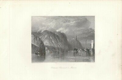 Stampa antica CLAIRMONT MAUVES Francia Turner 1857 Ancien Gravure Old Print