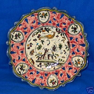 SIX NEW Portuguese Hand Painted Display Plates Rose