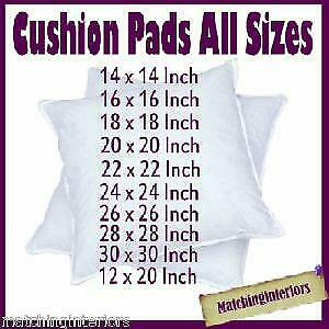 Scatter Cushion Pads Inserts Fillers Inners All Sizes