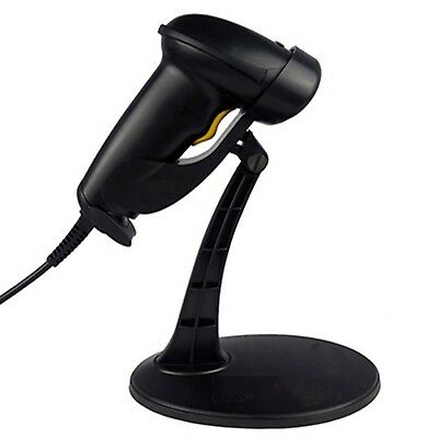 AUTOMATIC LASER USB BARCODE SCANNER READER STAND BLACK for windows apple mac