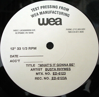 """BUSTA RHYMES """"WHAT'S IT GONNA BE"""" *TEST PRESS* MINT 12"""""""