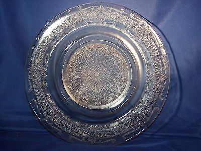 Amber S Pattern - Stippled Rose Band Dinner Plate 9½""