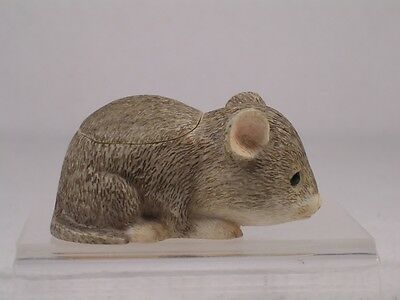 Harmony Kingdom Ball Pot Bellys / Belly 'Nibbles' Mouse #PBZMU  Ret. New In Box