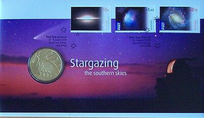 100 X 2009 Stargazing Pnc Stamp And Coin Cover