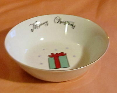 Merry Brite Merry Christmas~ Soup/Cereal Bowl ~ Present