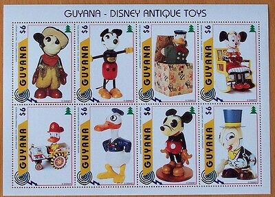 3 X Disney- Antique Toys -8 Stamp Mint Sheet.