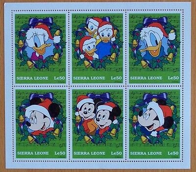 3 X Disney- Christmas-6 Stamp Mint Sheet.