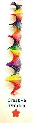 Rainbow Spiral Mobile Hanging Decor perfect above Baby Change Table & kids Rooms