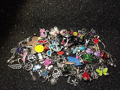 25 PiEcEs ~ GRaB BaG ~ MiXeD EnAmEL SiLvER GoLd ChArMs