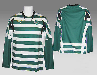 New Authentic PUMA SPORTING LISBON FOOTBALL Shirt PLAYER ISSUE Home L/Slvd XL