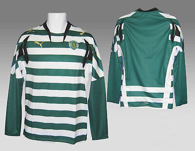 New Authentic PUMA SPORTING LISBON FOOTBALL Shirt PLAYER ISSUE Home L/Slvd L