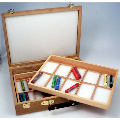 Epworth Wooden Pastel Box - Empty - Two (2) Trays