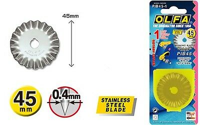 OLFA 45mm Pinking Cutter Spare Blade PIB45-1 Free Post!