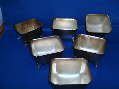 Set of 6 silverplate sugar bowls