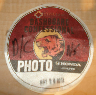 Official 2004 Dashboard Confessional Photopass
