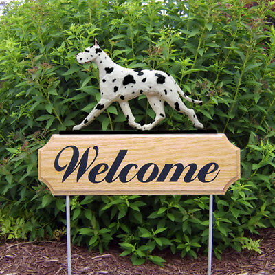 GREAT DANE CROPPED WELCOME SIGN STAKE/CHOICE OF COLORS