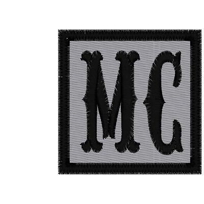 Reflective Custom Embroidered Biker  Mc  Patch