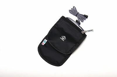 Aqua Quest Continental Travel Pouch - Water Resistant Easy to Conceal - Black